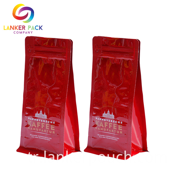 Hot Seal Flat Bottom Pouches With Pocket Zipper