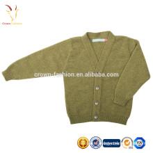 Cotton Cashmere Cardigan Plain V neck Knitwear