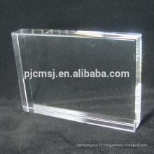 Vente chaude bonne qualité haute qualité vide k9 cristal bloc de verre