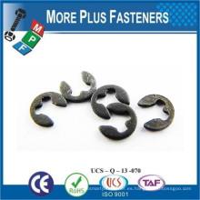 Hecho en Taiwán Negro Fosfato Acero inoxidable grueso Plain estándar E Clip
