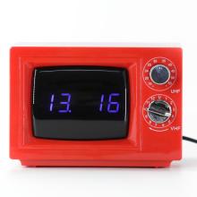 TV Digital Alarm Red Desk Clocks