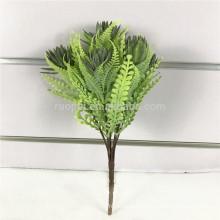 горячий продавать искусственные вечнозеленые листья ветки с 3 цвета