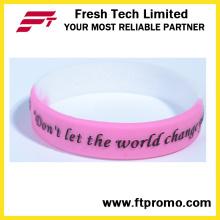 Artículos de regalo OEM Pulseras de silicona personalizadas para el deporte