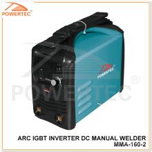 Onduleur manuel de soudage à souder DC Inverter de Powertec Arc IGBT (MMA-160)