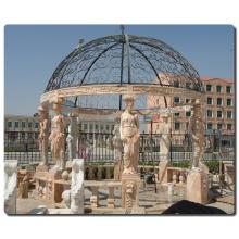 decoración de jardín al aire libre talla de piedra cenador de mármol italiano