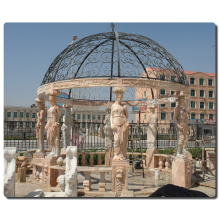 outdoor garden decoration stone carving italian marble gazebo