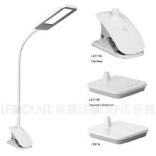 Lâmpada de mesa de luz de painel de LED com base de grampo (LTB718C)