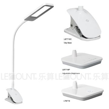 Lámpara de mesa de luz de panel LED con base de abrazadera (LTB718C)