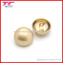 Alta qualidade pérola ouro metal cogumelo Shank botão para casaco