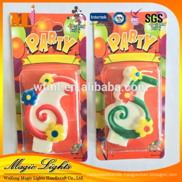 Factory Price New designed Birthday Cake Candle Number Candle With High Quality Certificates