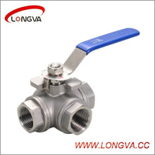 Stainless Steel L-Type Three-Way Ball Valve