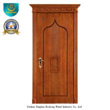 Porte en bois massif style européen simplifié pour l'intérieur (ds-050)