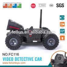 Carro legal! 4CH android controle carro rc vídeo detetive do rc carro com câmera de vídeo