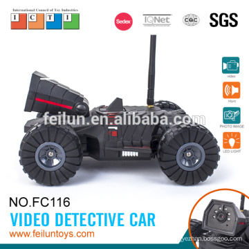 Cool car ! 4CH Iphone & Android car controlled video detective rc car with video camera