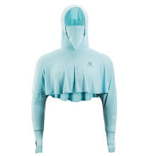 Rockbros Summer Women′s Hooded Ultra-Light and Breathable Sunscreen Clothing with Anti-Ultraviolet Riding Sunscreen
