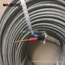 Chine fabricant fiber de verre isolé k type thermocouple extension fil
