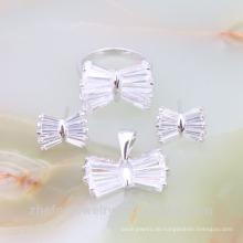 Großhandelsschmucksachen Kristallhochzeits-Halsketten-Set