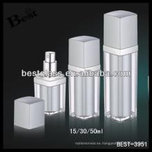 50ml rectangular complementa botellas vacías, 30 suplementos botellas vacías con bomba