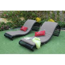 Chaise longue en poly rotin pour extérieur - EAGLE COLLECTION