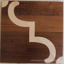 Noz com maple decoração parquet piso de madeira