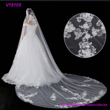 Beaded Soft Trim Bridal Veils French Lace Applique Beaded Soft Trim Bridal Veils Wedding Accessories French Lace