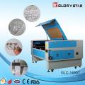 Máquina de corte e gravação de laser de tubo de vidro de 80W para pano e tecido