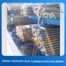 20 # 45 # Cylindre hydraulique en acier au carbone Piston Rod Chrome Plated