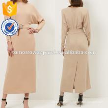 Новые ню мода поясом Миди платье с длинным рукавом оптом производство модной женской одежды (TA5220D)