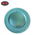 Light Blue Rhombus Plastic Charger Plate