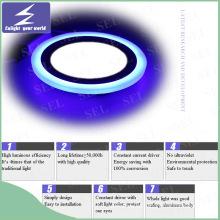Azul 2 colores LED interior panel de luz