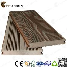 Decking extérieur WPC / Decking composé en bois et en plastique / plancher d'ingénierie