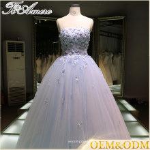 2016 vestido de noiva fábrica de alta qualidade noite festa noite vestido de bola