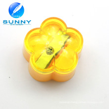 Promotional Flower Shaped Plastic Pencil Sharpener for Kids