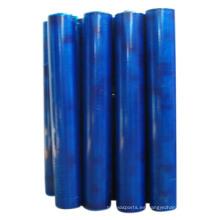 Película protectora azul para el panel de acero inoxidable