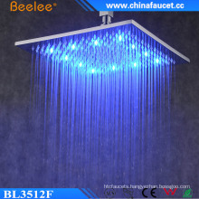 Bathroom 12′′ Luxury High Pressure Waterproof LED Shower Head