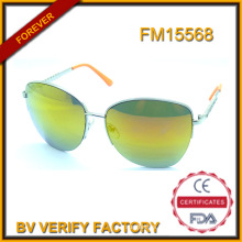 Custom Metal Sunglasses with Oriange Lens Wholesale in China