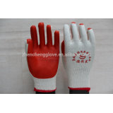 red rubber coated gloves/Laminated latex cotton gloves