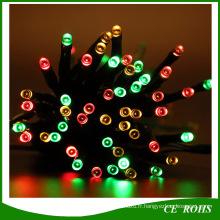 Lumière solaire colorée de ficelle de forme de tube de 100LED pour le jardin décorer