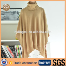 High neck knitted China fashion wool poncho
