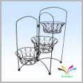 Outdoor placing small plant iron metal flower pot stand