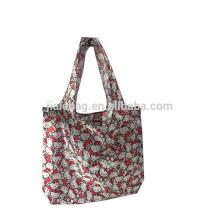 210D polyester reusable foldable shopping bag
