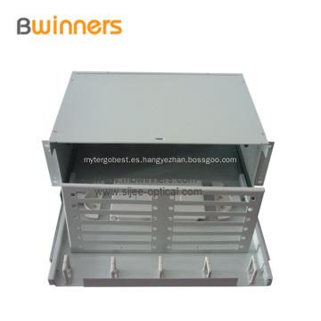 72-96 Caja de terminación de fibra óptica de montaje en bastidor de puerto