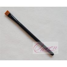 Escova de maquiagem plana de madeira Escova de cosméticos preto Eyeliner