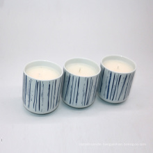 small ceramic cup paraffin/soy wax scented candle 110g