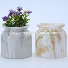 Vasos de flores de vidro baratos para o casamento