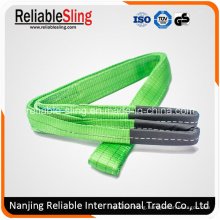 Heat Resistant Polyester Flat Belt Type Color Code Webbing Sling for Crane