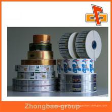 Adhesivo adhesivo autoadhesivo etiqueta de impresión, pegatina de rollo, impresión de pegatina de etiqueta