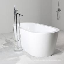 Bañera de hidromasaje de acrílico blanco independiente