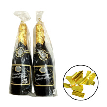 Bachelorette Party Supplies Champagne Bottle Popper with Gold Foil Mylar Confetti