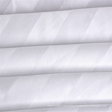 Factory directly sale cheap hotel bedding fabric solid white color 50 polyester 50 cotton fabric